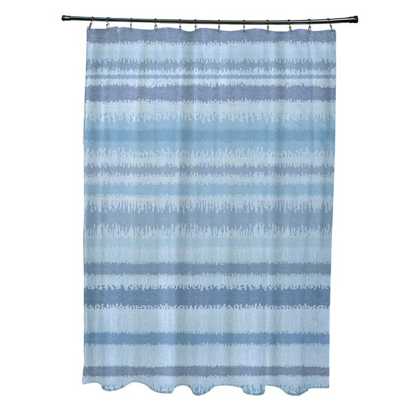 Raya De Agua Stripe Print Shower Curtain 21358344