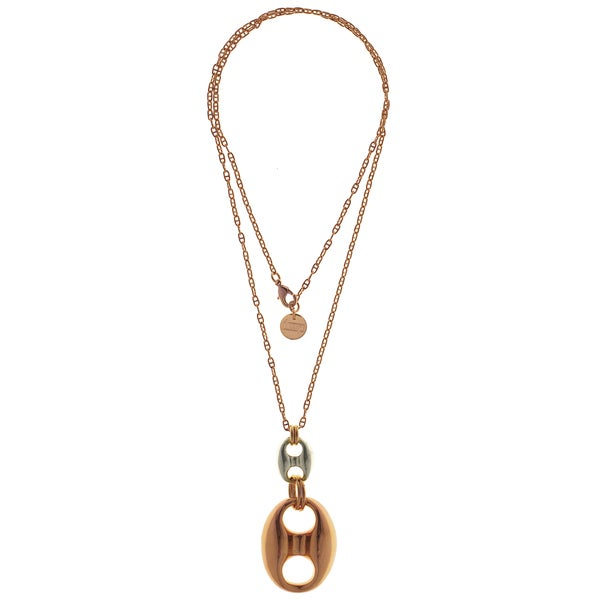 Isla Simone - 18k Rose Gold & Silver Plated Figure 8 Necklace