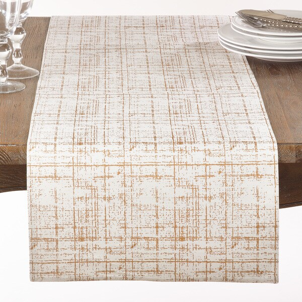 Crosshatch Foil Table Runner