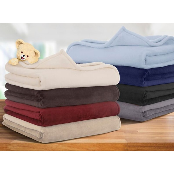 Snuggle Ultra Lux Microplush Solid Color Blanket