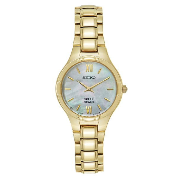 Seiko Women's Core Yellow-gold-plated Titanium Solar-powered Bracelet Watch