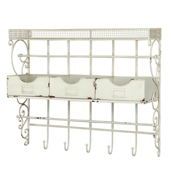 White Metal Ribbon Rack