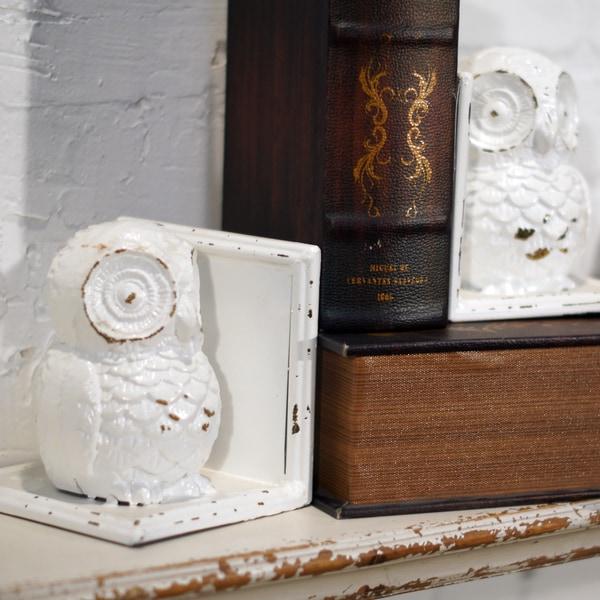 Metal Owl Bookends