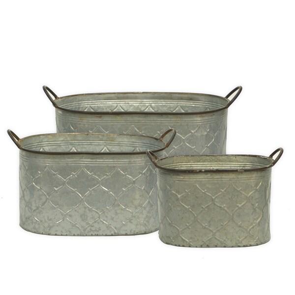 Metal Buckets (Set of 3)