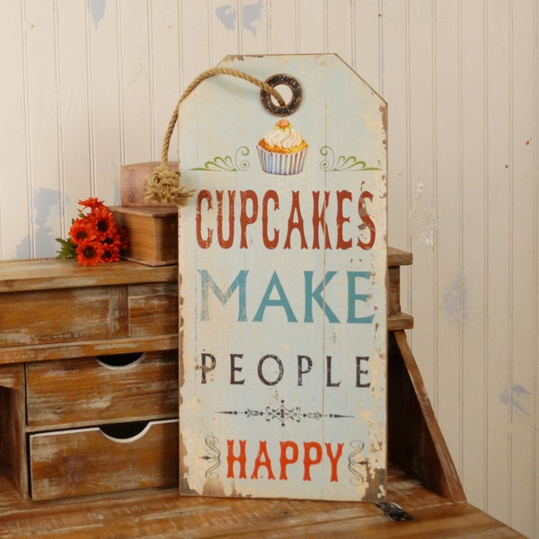 Cupcake Wooden Sign