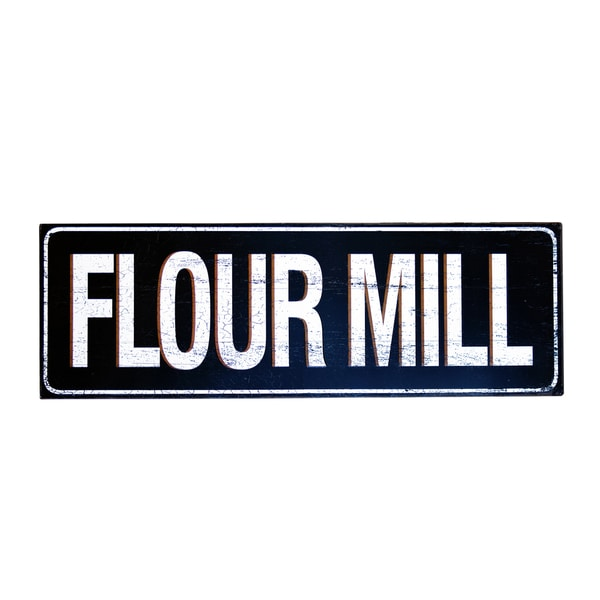 42-inch Metal Flour Mill Sign