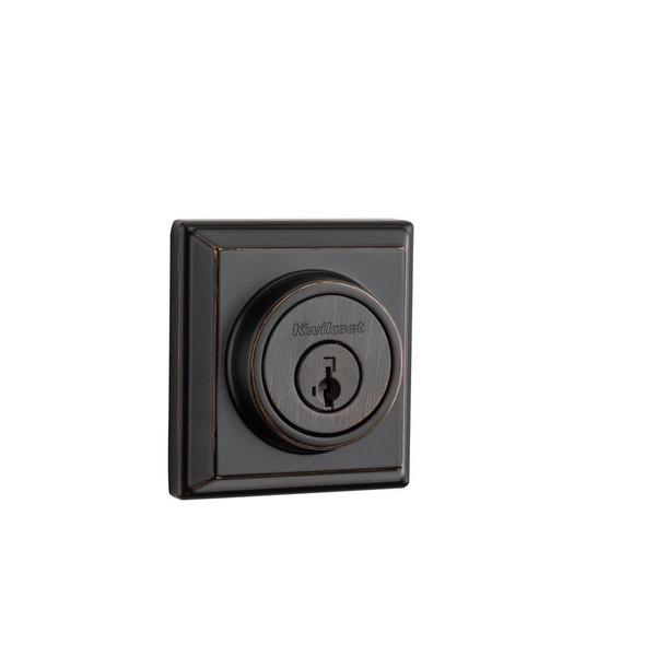 Kwikset 910 Signature Series Single-Cylinder Contemporary Venetian Bronze Deadbolt with Home Connect Technology