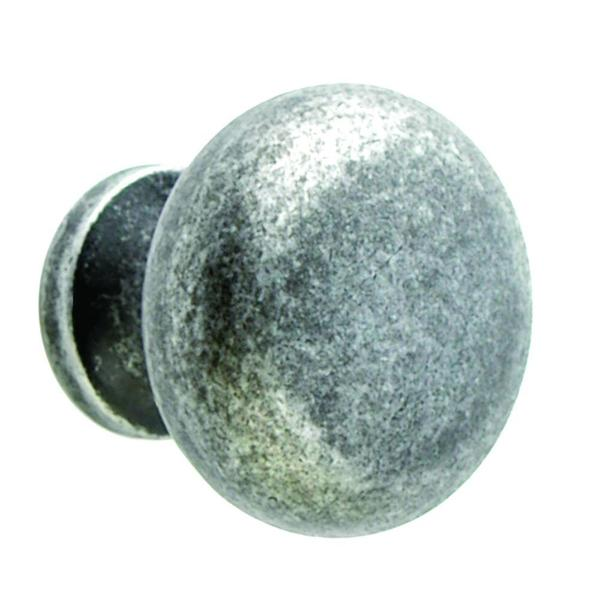 Giagni 1-1/4 in. Round Knob in Tumbled Pewter (50-Pack)