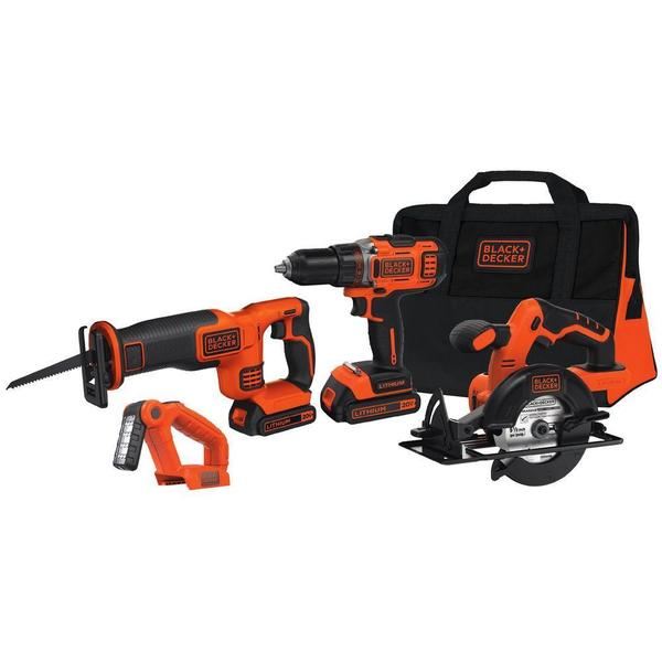 BLACK+DECKER 20-Volt MAX Lithium-Ion Cordless Combo Kit
