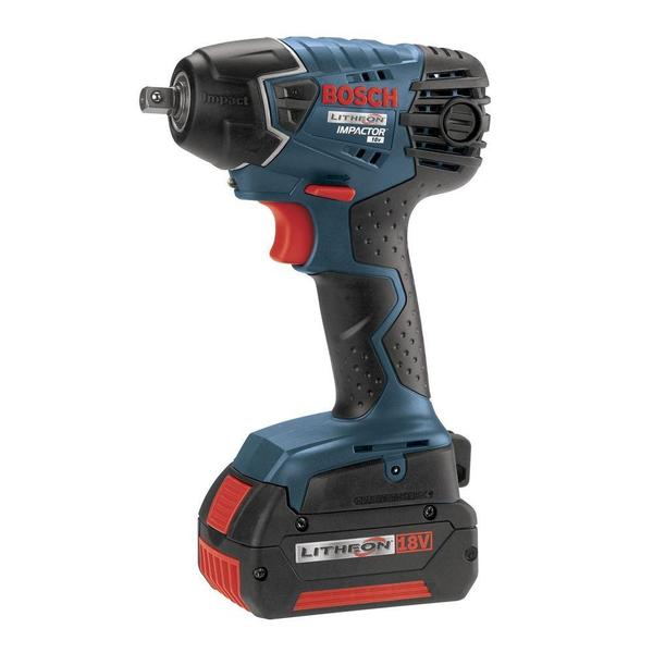 Bosch 18-Volt 3/8 in. Impact Wrench with (2) FatPack Battery (4.0Ah)