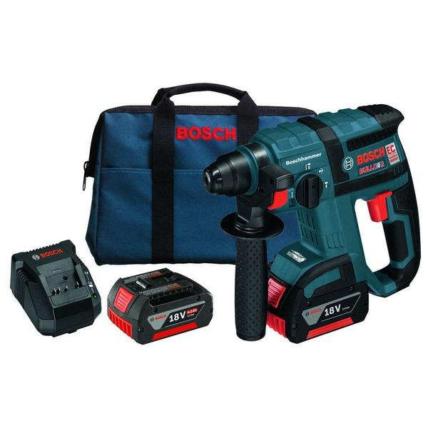 Bosch 18-Volt Lithium-Ion 3/4 in. SDS-Plus Cordless Rotary Hammer Kit