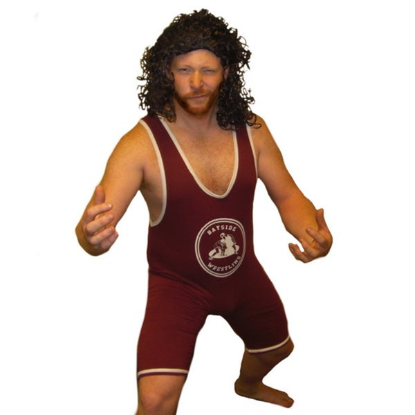A.C. Slater Bayside Wrestling Singlet Tigers Wrestler Costume Large Size(As Is Item)