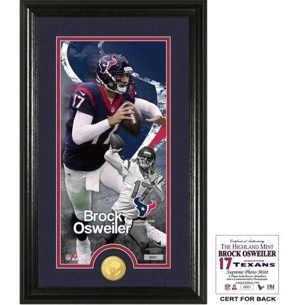 "Brock Osweiler ""Supreme"" Bronze Coin Panoramic Photo Mint"