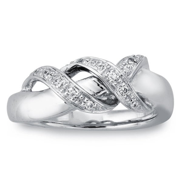Sterling Silver Diamond Accent Wrap Band (H-I, I2-I3)