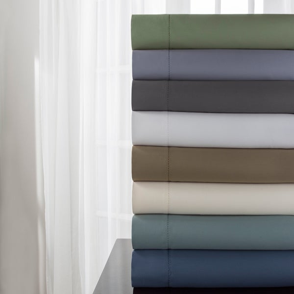 DelRay 600 Thread Count Hemstitch Solid Sheet Set 21364132