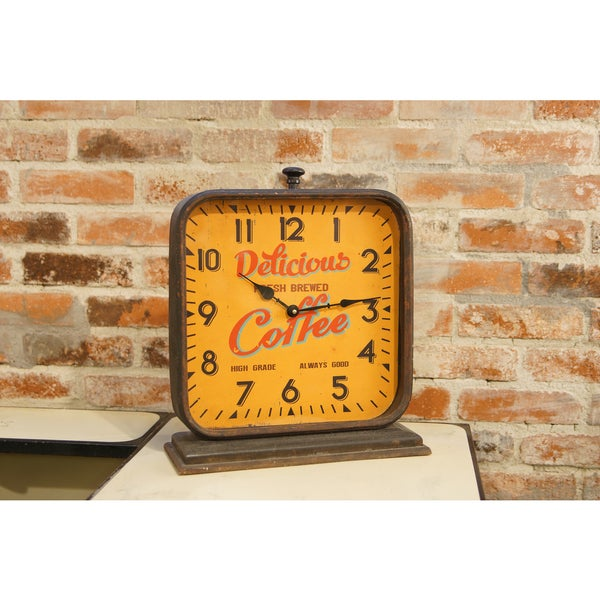 MTL. Coffee Mantle Clock