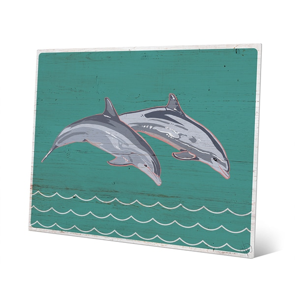 Leaping Dolphins Metal Wall Art