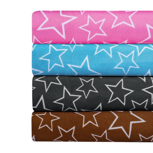 Star Print Super Soft Microfiber Sheet Set