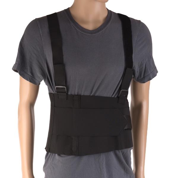 DMI Deluxe 2XL Work Belt Back/Lumbar Support Brace with Adjustable, Removable Shoulder Straps 21371952