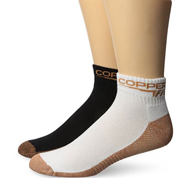 Copper Fit Unisex Small/Medium Sport Socks (Set of 2)