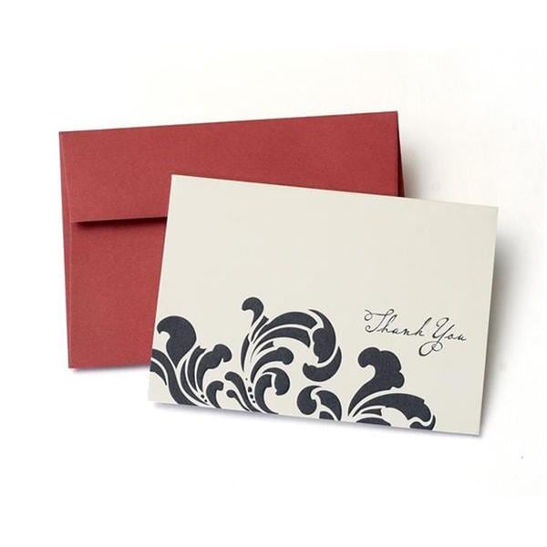 Navy Swirl Thank You Cards (Case of 20)