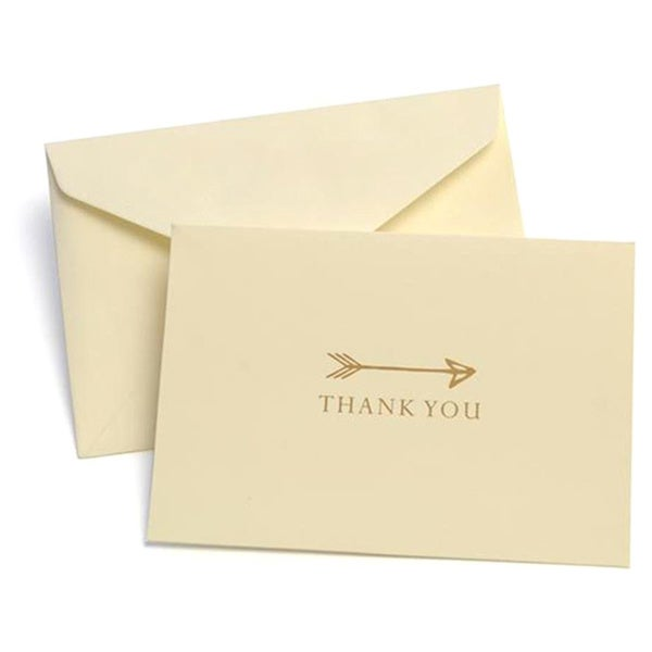 Gold/Ivory Arrow Thank-you Cards (Pack of 10)