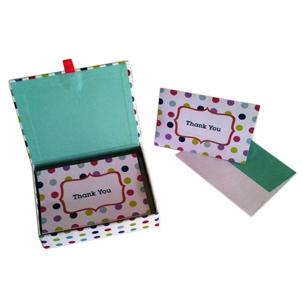 Box of Cheery Multi-dot 'Thank You' Cards (Case of 20)