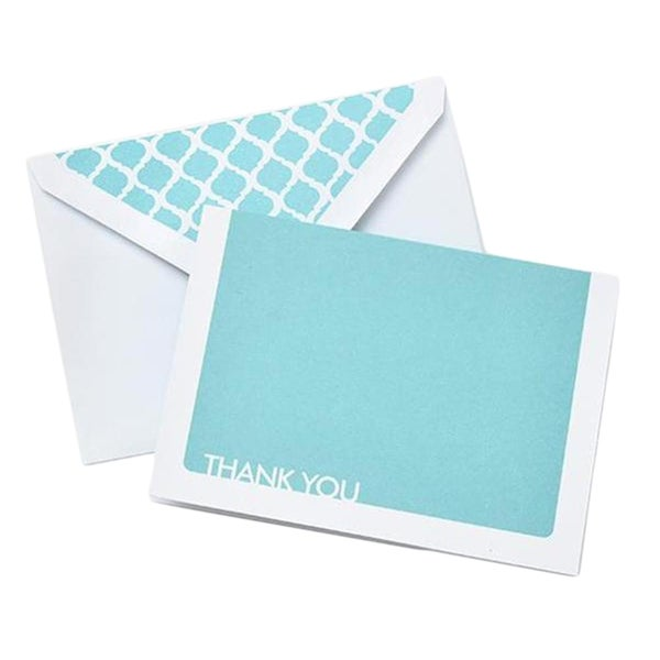 Light Blue Lattice Thank-you Cards (Pack of 10)