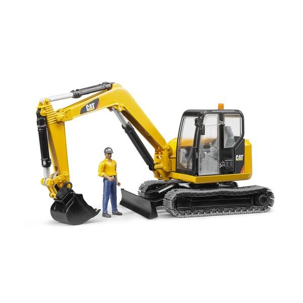 Bruder Toys CAT Mini Excavator with Worker 21373077