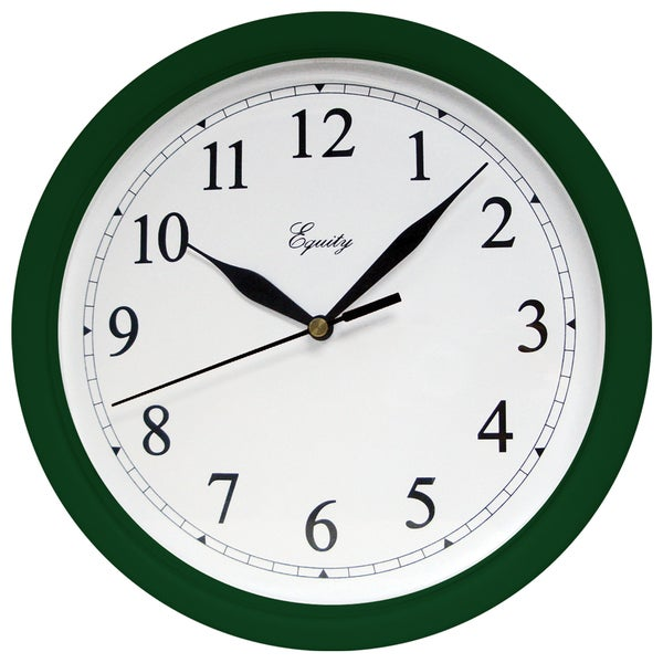 "Equity 25205 10"" Hunter Green Plastic Wall Clock"