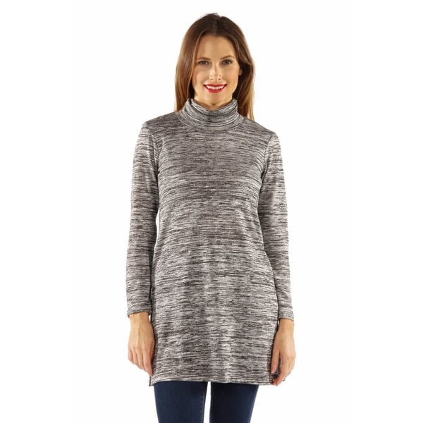 Studious Glamour Mock Turtleneck Tunic