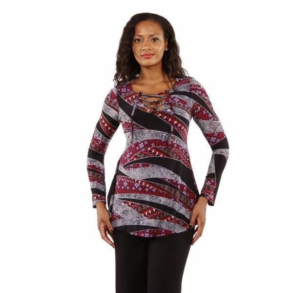 Enchantress Printed Tunic Top