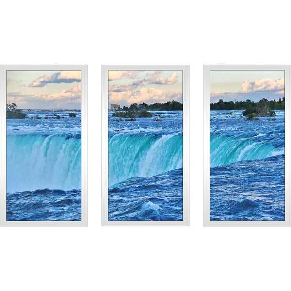 """Fallin"" Framed Plexiglass Wall Art Set of 3"