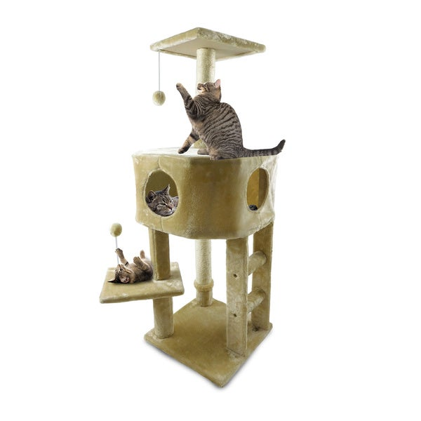 FurHaven Tiger Tough Treehouse Cat Tree
