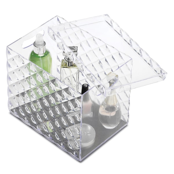 Whitmor Clear Diamond Organizer With Lid