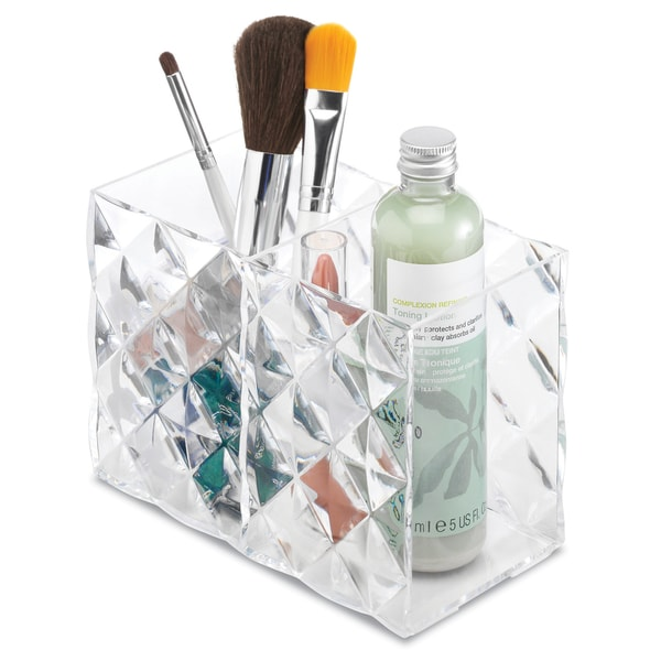 Whitmor 2 Section Clear Diamond Vanity Box