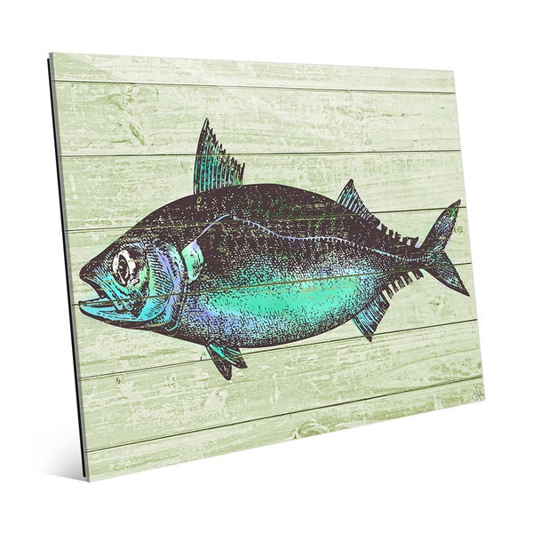 Aqua Fish' Wall Art on Glass