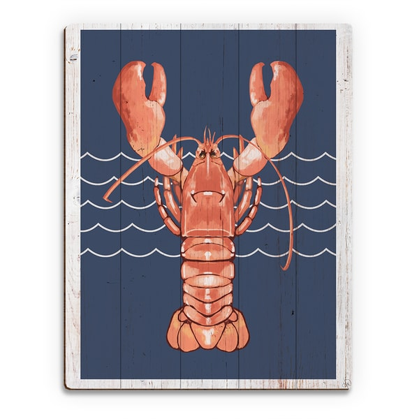 Lobster Life Coral' Wood Wall Art 21376496