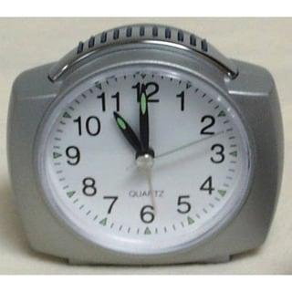 "Equity 27006 4"" Quartz Analog Alarm Clock With Lighted Dial"
