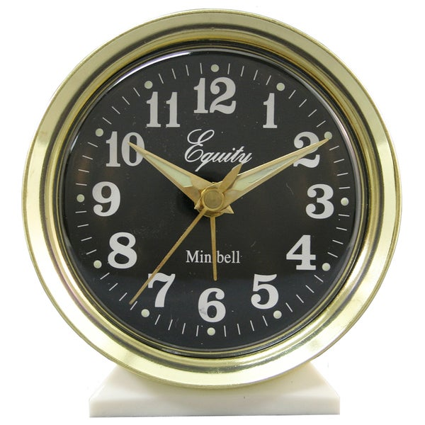 "Equity 12020 4"" Mini Bell Alarm Clock"