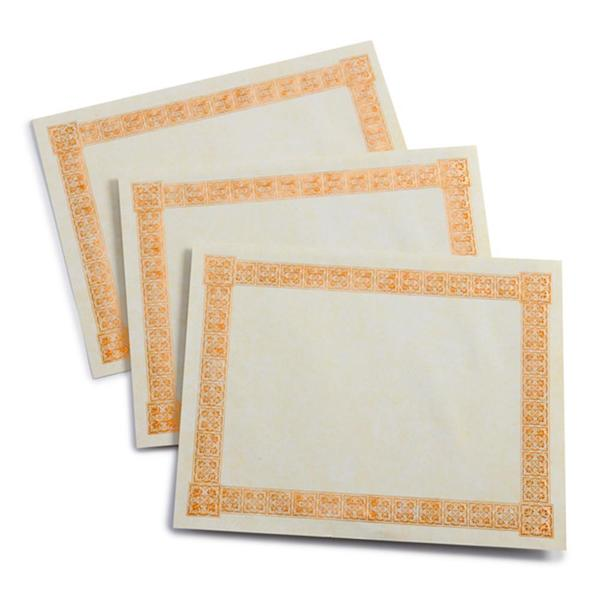 White and Copper Foil Paper Blank Certificates (Case of 15)