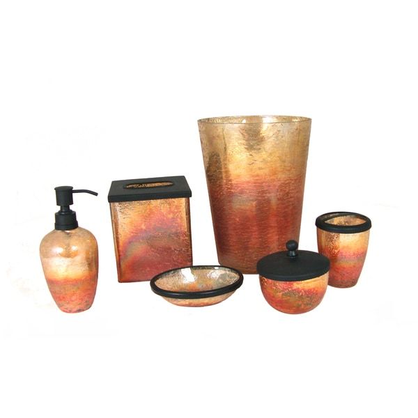 Lava Amber 6-Piece Bath Accessory Set