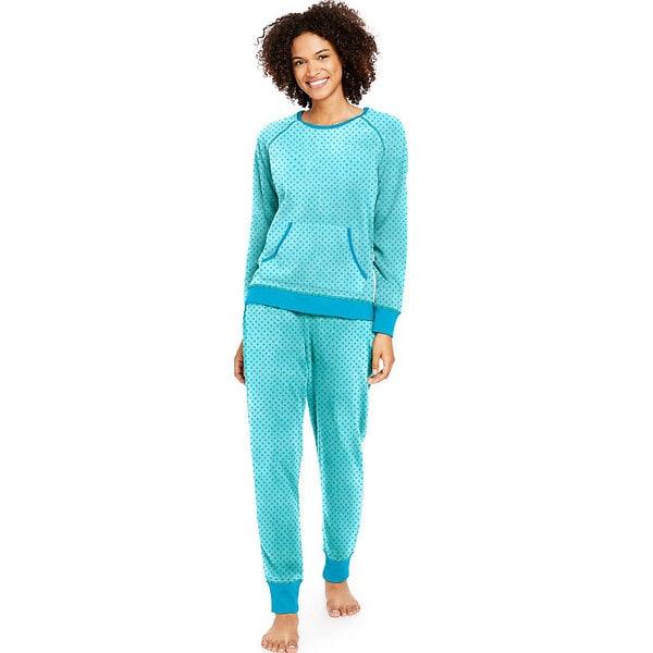 Hanes Women's Ultimate Micro Fleece PJ Set