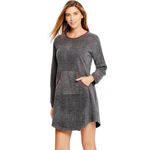 Hanes Ultimate Women's Grey Microfleece Dress