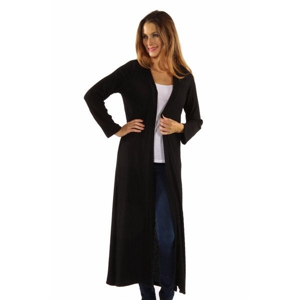 The Perfect 10 Soft Rib Black Cardigan Jacket