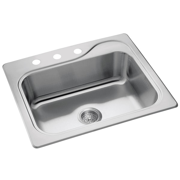 "Sterling 11405-3-NA 25"" X 22"" X 8"" Stainless Steel Southhaven Kitchen Sink"