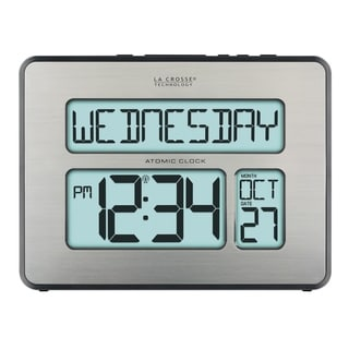 La Crosse Technology C86279 Backlight Atomic Full Calendar Clock with Extra Large Digits