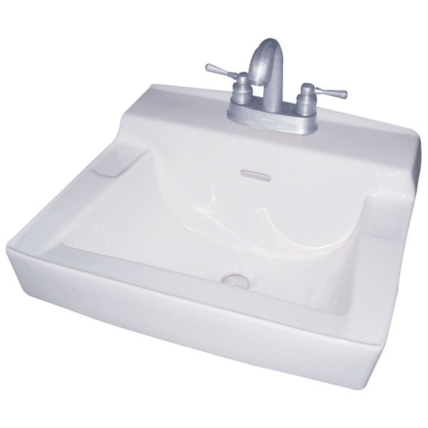 "Cascadian Sanitary Ware LT11-4 19"" X 16"" Wall Hung Lavatory Sink"