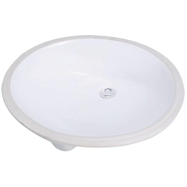 "Cascadian Sanitary Ware L1560 19"" X 17"" White Bristol Design Under Mount Lavatory Sink"
