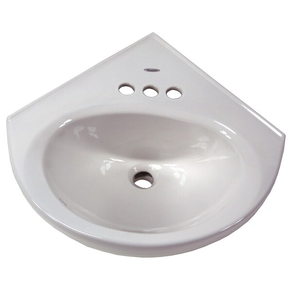 "American Standard 0611.004.020 White Cornice Wall Hung Lavatory Basin With 4"" Centers"